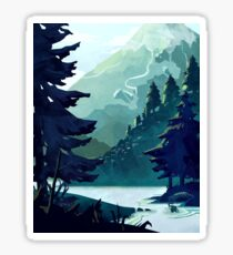 Canadian Mountain Sticker