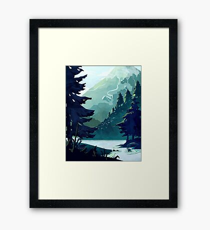 Canadian Mountain Framed Print