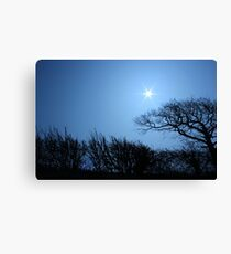 Moon Star Canvas Print