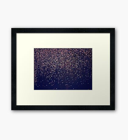 Lluvia abstracta Lámina enmarcada