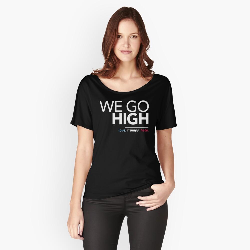 Wir gehen hoch (Liebe trumpft Hass) Loose Fit T-Shirt