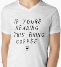 Read This Bring Coffee Men's V-Neck T-Shirt