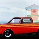 1965 Ford Falcon Ranchero Day at the Beach by ChasSinklier