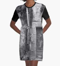 An Old Weathered Wall Graphic T-Shirt Dress