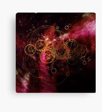 Time Lord Writing (red) Canvas Print