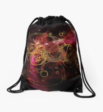 Time Lord Writing (red) Drawstring Bag