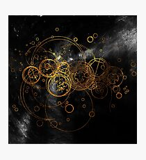 Time Lord Writing (black) Photographic Print