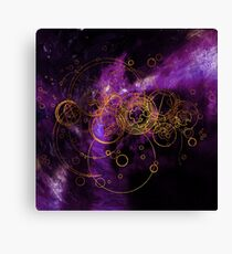 Time Lord Writing (purple) Canvas Print