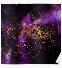 Time Lord Writing (purple) Poster