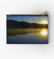 Misty morning on the Flathead River Studio Pouch