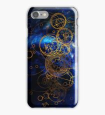 Time Lord Writing (blue) iPhone Case/Skin
