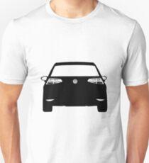 VW Golf MK7 Black Rear Unisex T-Shirt