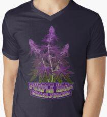 Purple Haze Medicinal Marijuana Cannabis Men's V-Neck T-Shirt