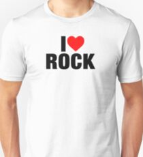 I Love Rock Music Unisex T-Shirt