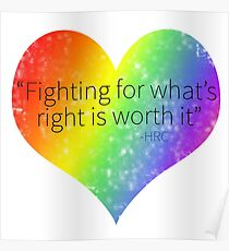 Fighting For What is Right Poster