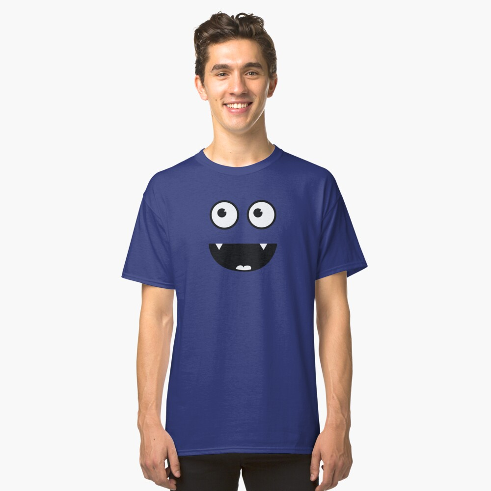 Cute Funny Vampir Monster Smiley Face Classic T-Shirt