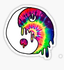 Drippy Trippy Tie Dye Yin Yang Sticker