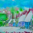 Cottages in  the Valley by FrancesArt