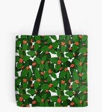 Holly Pattern Tote Bag