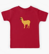 Funny llama with sunglasses and mustache Kids Clothes