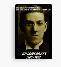 HP LOVECRAFT IN  MEMORY Canvas Print