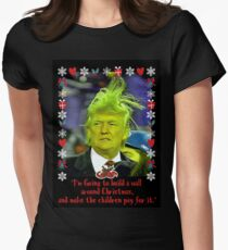 Donald Grinch Trump Womens Fitted T-Shirt