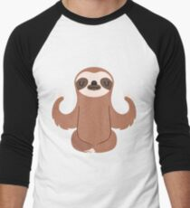 Sloth doing yoga Men's Baseball ¾ T-Shirt