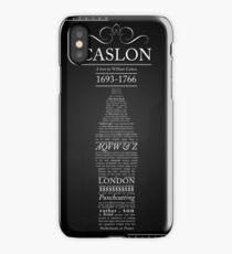CASLON FONT POSTER iPhone Case/Skin