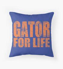 Gator for Life Throw Pillow
