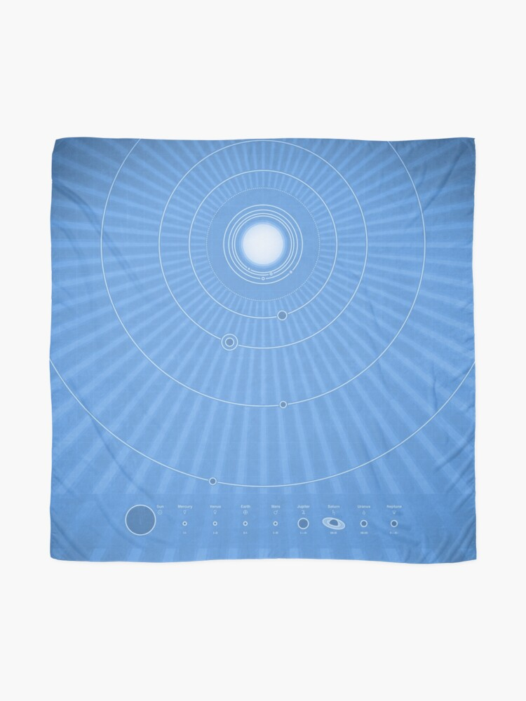 Alternate view of Solar System Cool - portrait Scarf