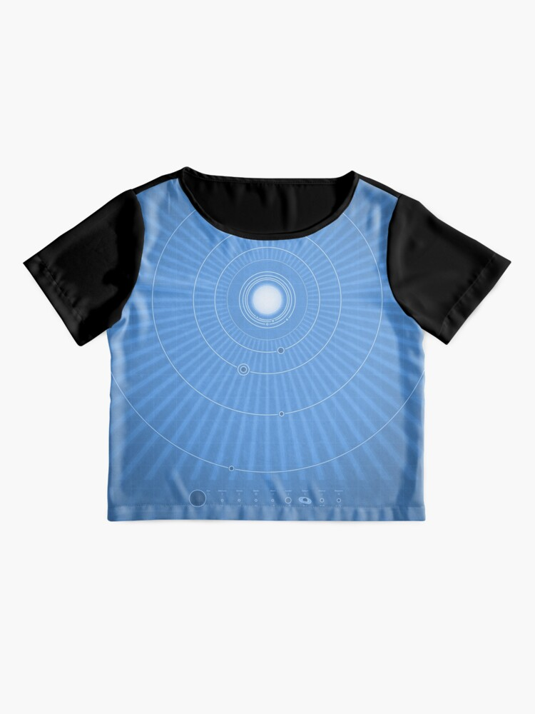 Alternate view of Solar System Cool - portrait Chiffon Top