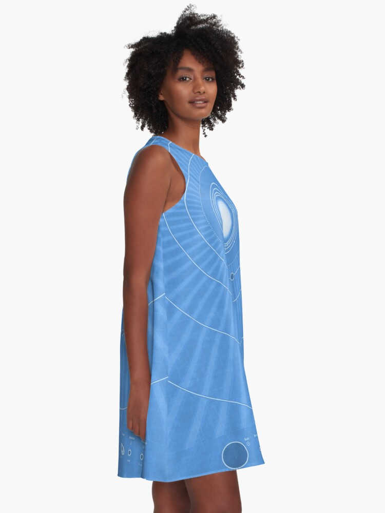 Alternate view of Solar System Cool - portrait A-Line Dress