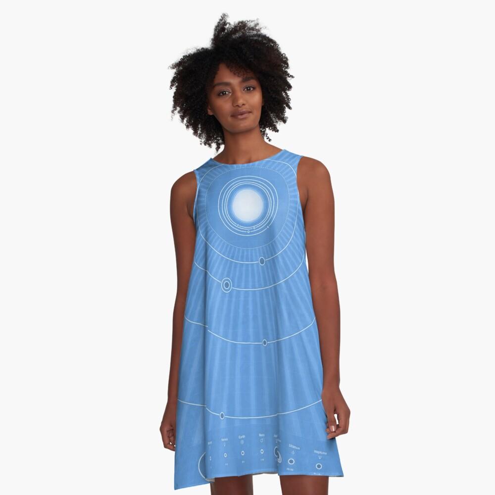 Solar System Cool - portrait A-Line Dress