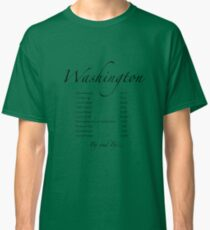 Washington - in Black text Classic T-Shirt