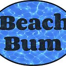 Beach Bum Oval Sticker (Pool Ripples) by Joshua Potter