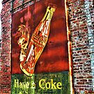 Old Coke Sign (approx 1940's found in Tarrytown, GA) by Julie Conway