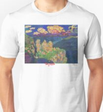 The 3 Sisters, Blue mountains Unisex T-Shirt