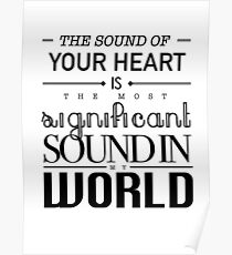 Twilight Cullen The Sound of Your Heart Poster