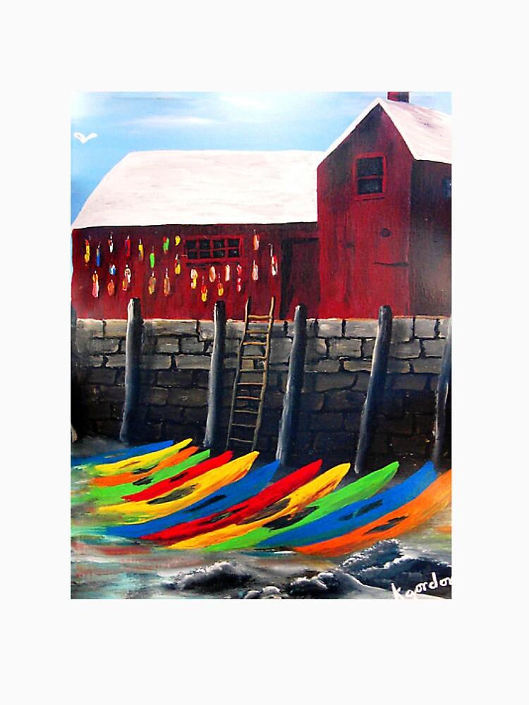 Rainbow Of Kayaks Under Motif-1 _*kj style_* by kjgordon