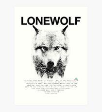 Lone Wolf! Art Print