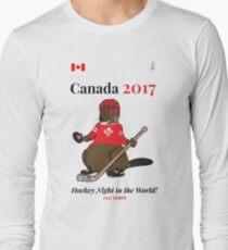 Canada 150, Canada 2017 & Canada Day Shirts & Souvenirs - Canadian Hockey, Curling, July 1 Party, Cool and Heritage Beaver Shirt Selection! Long Sleeve T-Shirt