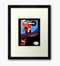 excitebike retro nes gamer shirt Framed Print