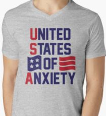United States Of Anxiety Mens V-Neck T-Shirt