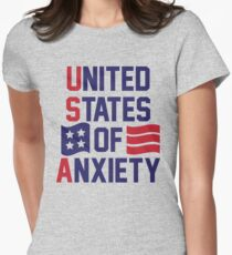 United States Of Anxiety Womens Fitted T-Shirt