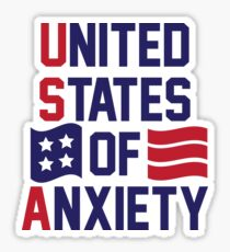 United States Of Anxiety Sticker