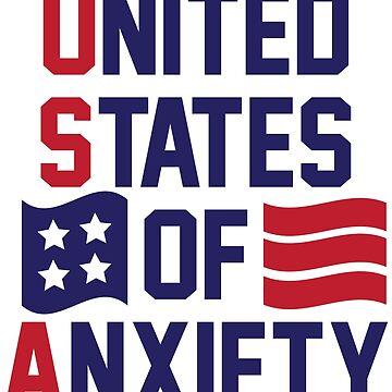 Vereinigte Staaten von Angst von kjanedesigns