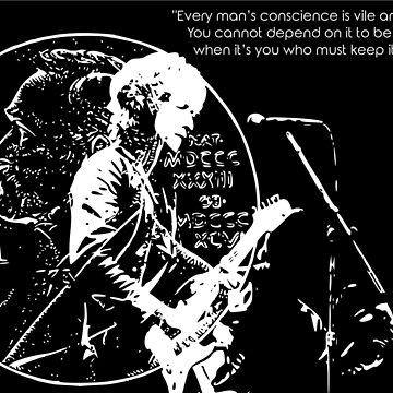 Bob Dylan Nobelpreisträger ver.white von Schwaz
