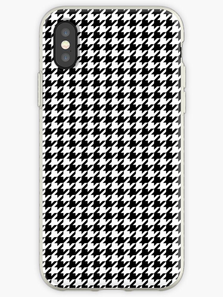half off 7d1c1 87856 'Houndstooth Black And White Checkered' iPhone Case by rewstudio