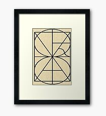 Alphabetic Monogram Framed Print