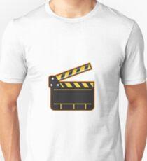 Movie Camera Slate Clapper Board Open Retro Unisex T-Shirt